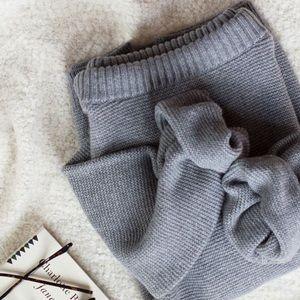 Gray Banana Republic Cashmere Boatneck Sweater